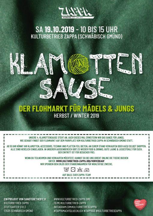 Ultramoderne SA 19.10. – KLAMOTTENSAUSE – Der Flohmarkt für Mädels & Jungs AD-18